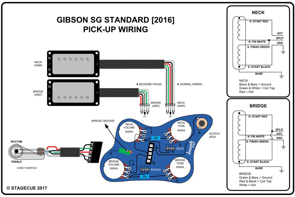 gibson sg wiring diagram for 1965 replacing gibson 490s with duncans #10